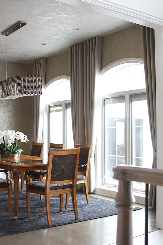 Modern Dining Room Drapes
